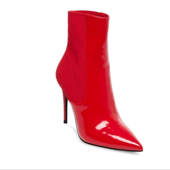 3bf439757bf Steve Madden Divinity Red Stiletto Bootie size 10.  M 5c69d9069fe486a9e5c0d7d5